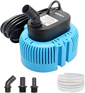 Pool Cover Pump Above Ground - Submersible Sump Pump, Swimming Water Removal Pumps, with Drainage Hose & 25 Feet Extra Long Power Cord, 850 GPH in Ground, 3 Adapters