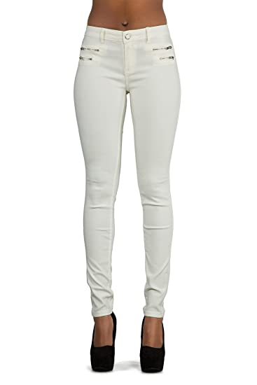 632147bb10 Pantalon Femme Jean Femmes Slim Pantalon en Cuir pour Femmes Skinny ...