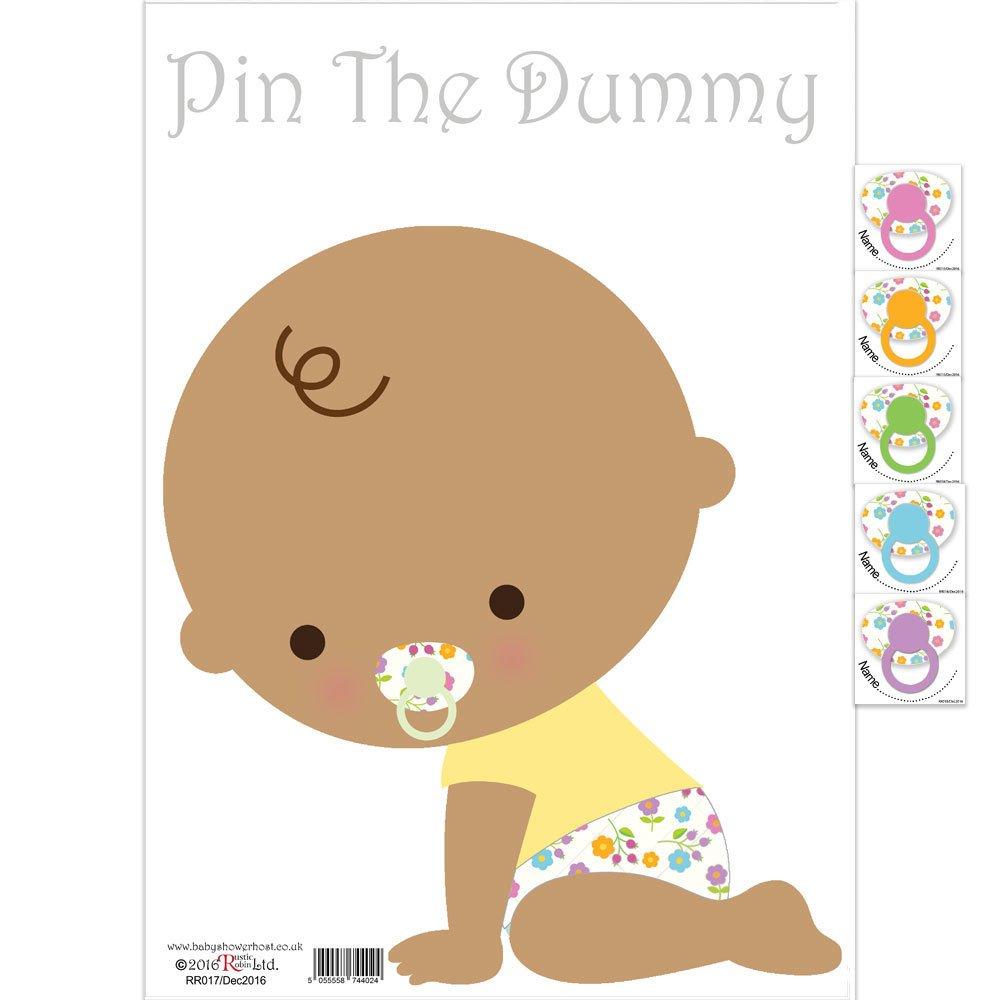 Juego de tarjetas de felicitación para baby shower Games con el texto en inglés «The Dummy On The Baby», tarjeta de predicción, tarjetas de deseos para bebé ...