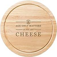 Tabla redonda de madera para queso de 25