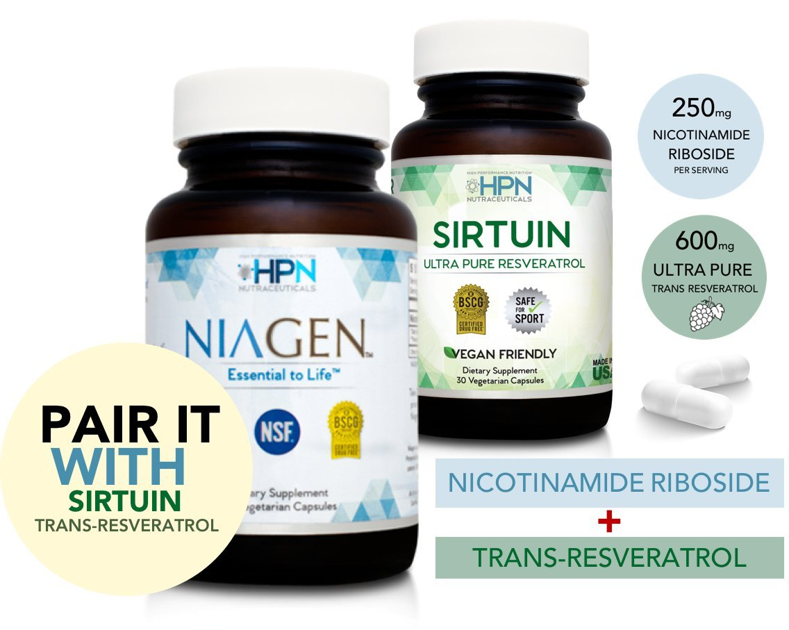 HPN Nutraceuticals Nicotinamide Riboside Metabolic Repair, Patented NAD Plus Booster with Niagen (Nr), the Original and Most Trusted Longevity Product, 60 Capsules