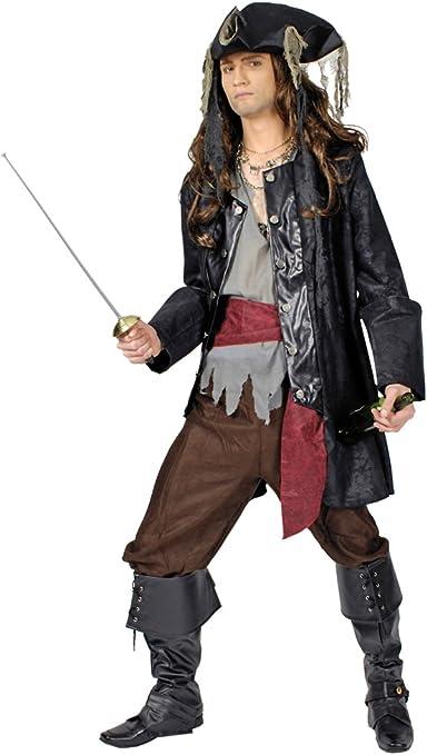 Disfraz capitán pirata barba negra hombre: Amazon.es: Juguetes y ...