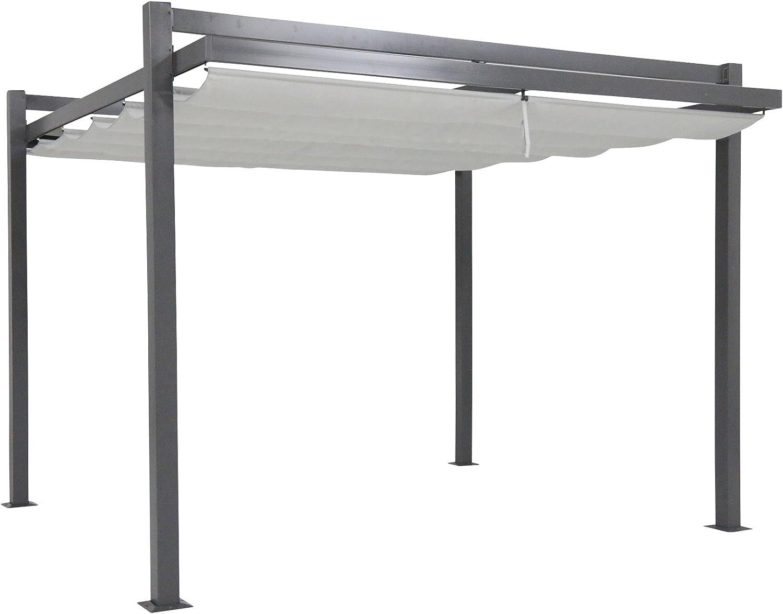 Leco Carpa, diseño de Pergola, Antracita, B 350 x l 350 x h 260 cm ...