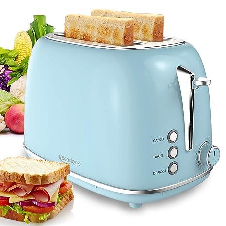 Amazon.com: Tostadora de pan compacta con 6 ajustes de ...