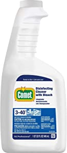 Comet Disinfecting Cleaner with Bleach Plastic Spray Bottle