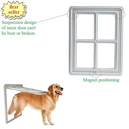 Amazon 4th Latest Magnetic Pet Window Screen Roll Pet Doors