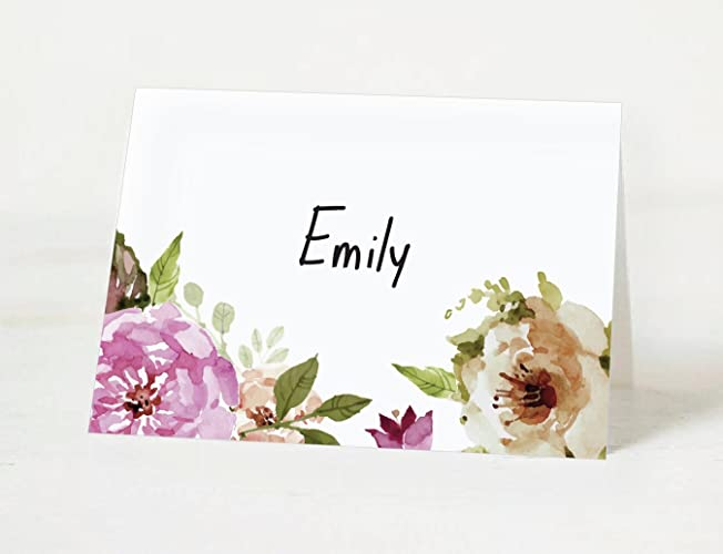 50x floral wedding placecards place cards setting seating place