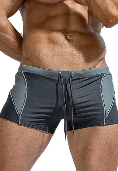 Men/'s Swimwear Swimsuit Beachwear Trunks Smooth Nylon Swimming Briefs Quick Dry