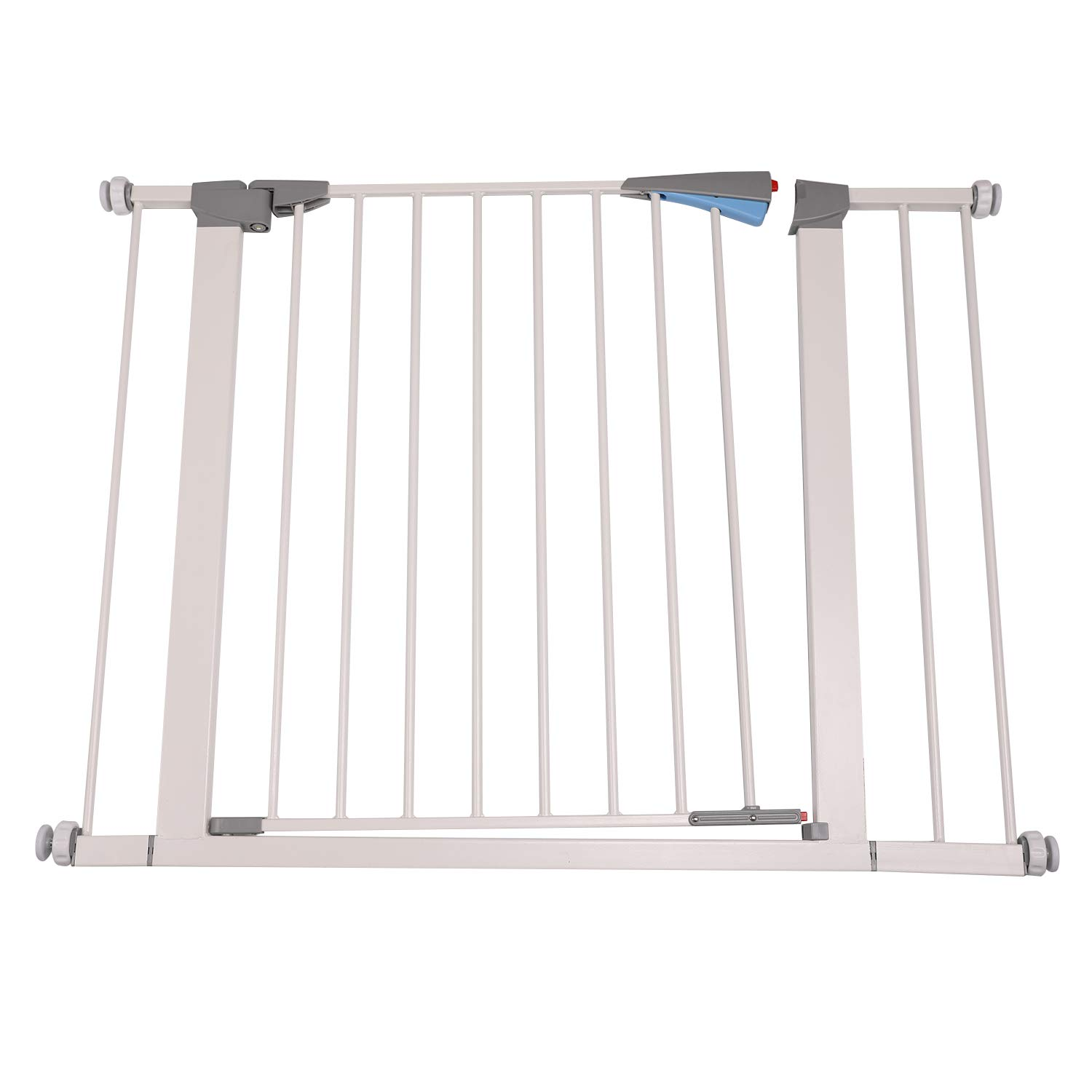 Walnest 28 x 30 Wide Indoor Safety Gates Metal Baby Gate Decorative Heavy Duty Ideal for Portico, Doorways or Between Rooms White-Add an Additional 5.5 to the Width of the Gate for Extra Wide Space