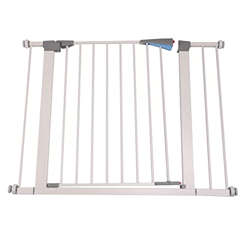 Walnest 28 x 30 Wide Indoor Safety Gates Metal Baby Gate Decorative Heavy Duty Ideal for Portico, Doorways or Between Rooms White-Add an Additional 5.5 to the Width of the Gate for Extra Space Wide