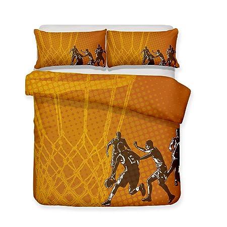 Zhizhen - Juego de sábanas de Baloncesto con impresión 3D para ...