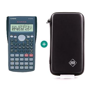 Casio FX-82MS + Funda protectora SafeCase: Amazon.es: Oficina y papelería
