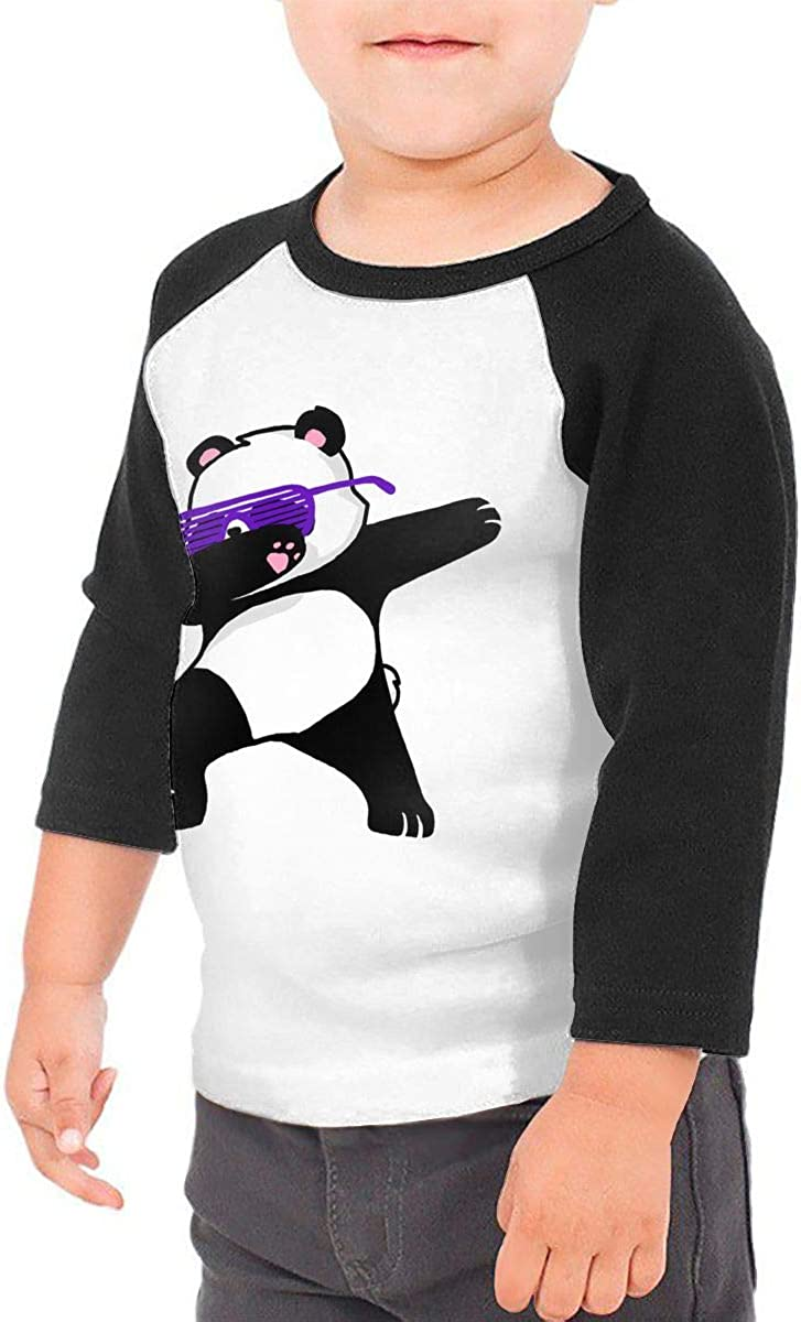 Kocvbng I Funny Cute Dabbing Panda Raglan 3//4 Sleeve T Shirt for Girls Boys