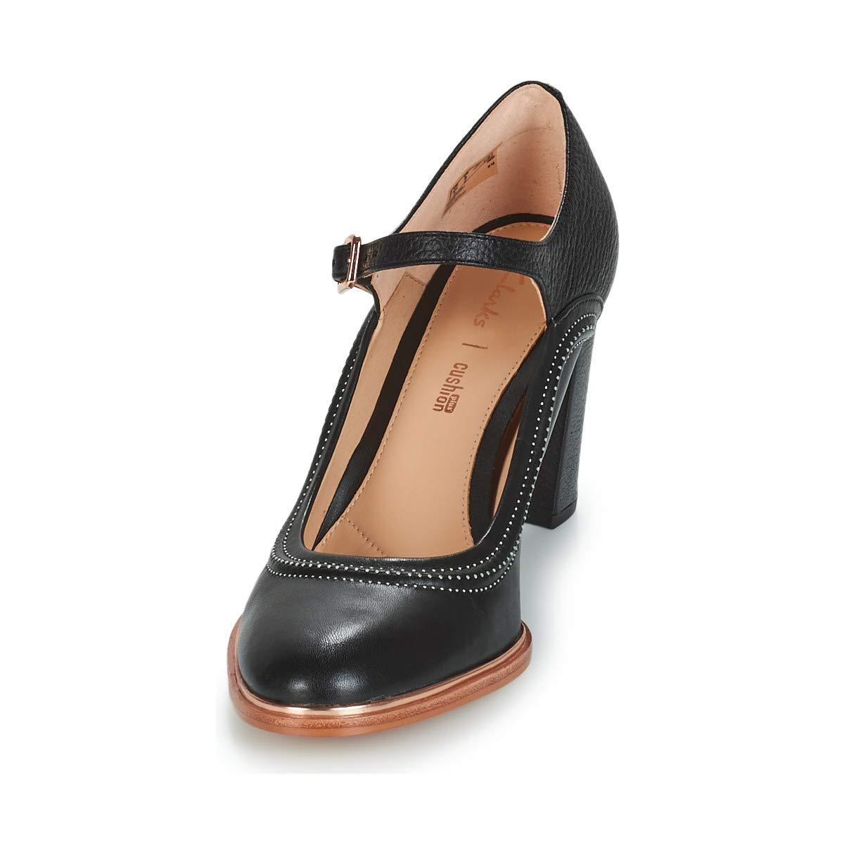 CLARKS Ellis Mae Negro, 42: Amazon.es: Zapatos y