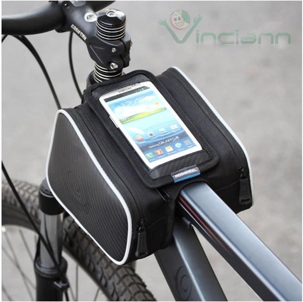 H10 Bolsa de bicicleta con Triple compartimento, resistente al ...