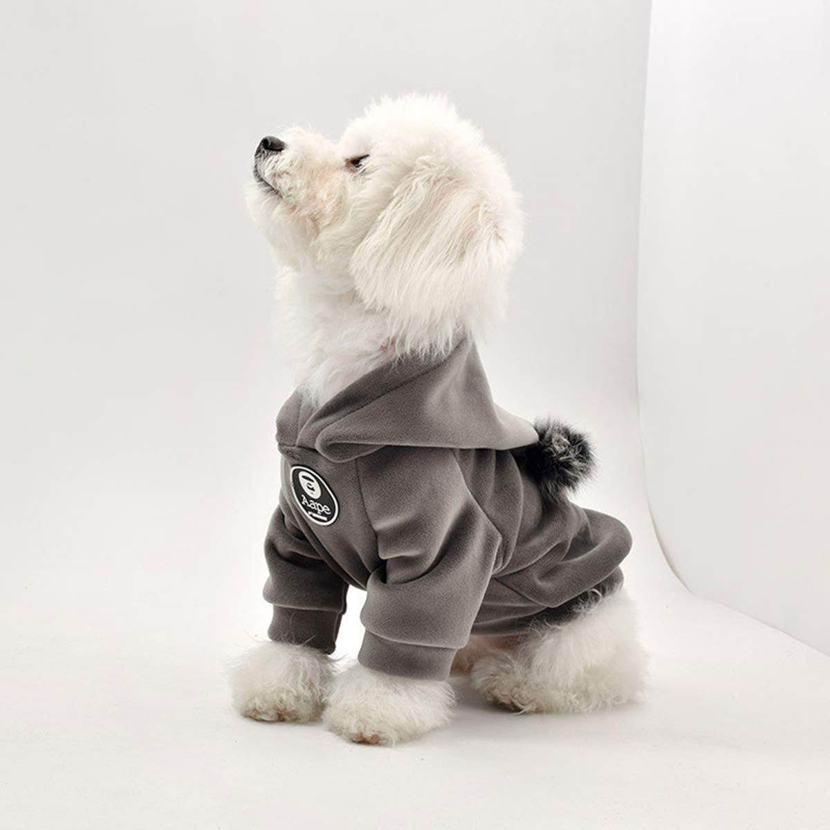 Brown L Brown L PETFDH Pet Dog Hoodies Clothes Cotton Autumn and Winter Sports Sweater Clothing Coat for Small Dog Teddy Law Fighting Brown L