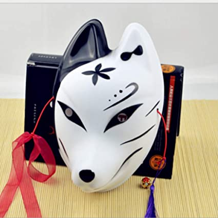 WEIZHUANGZHE Máscara de Zorro japonés de PVC, Demon Kitsune ...