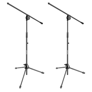 Amazon com: Neewer 2 Pieces Tripod Boom Floor Microphone