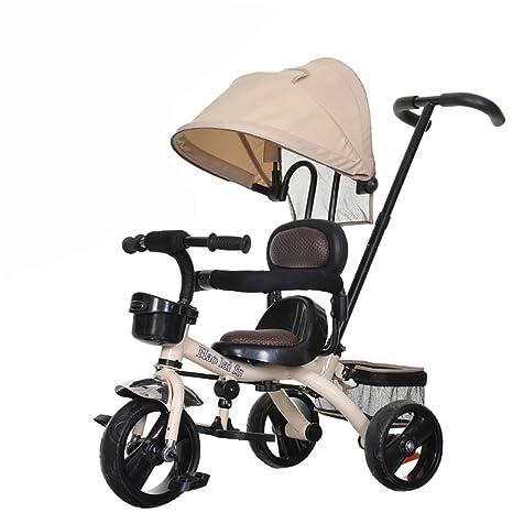 Triciclo para Niños Bicicleta 1-3-6 Años Cochecito para Bebés Bicicleta Hombres Y