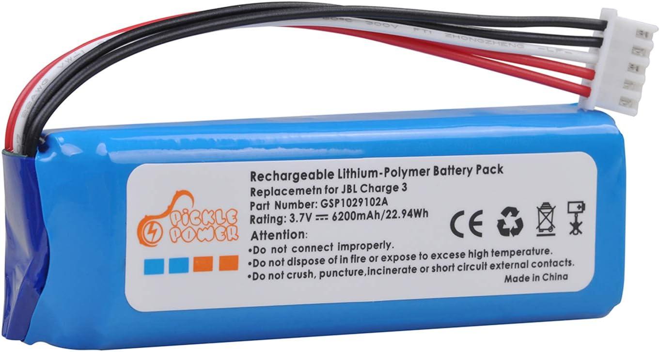Bateria GSP1029102A para  JBL Charge 3 (2016) 6200mAh