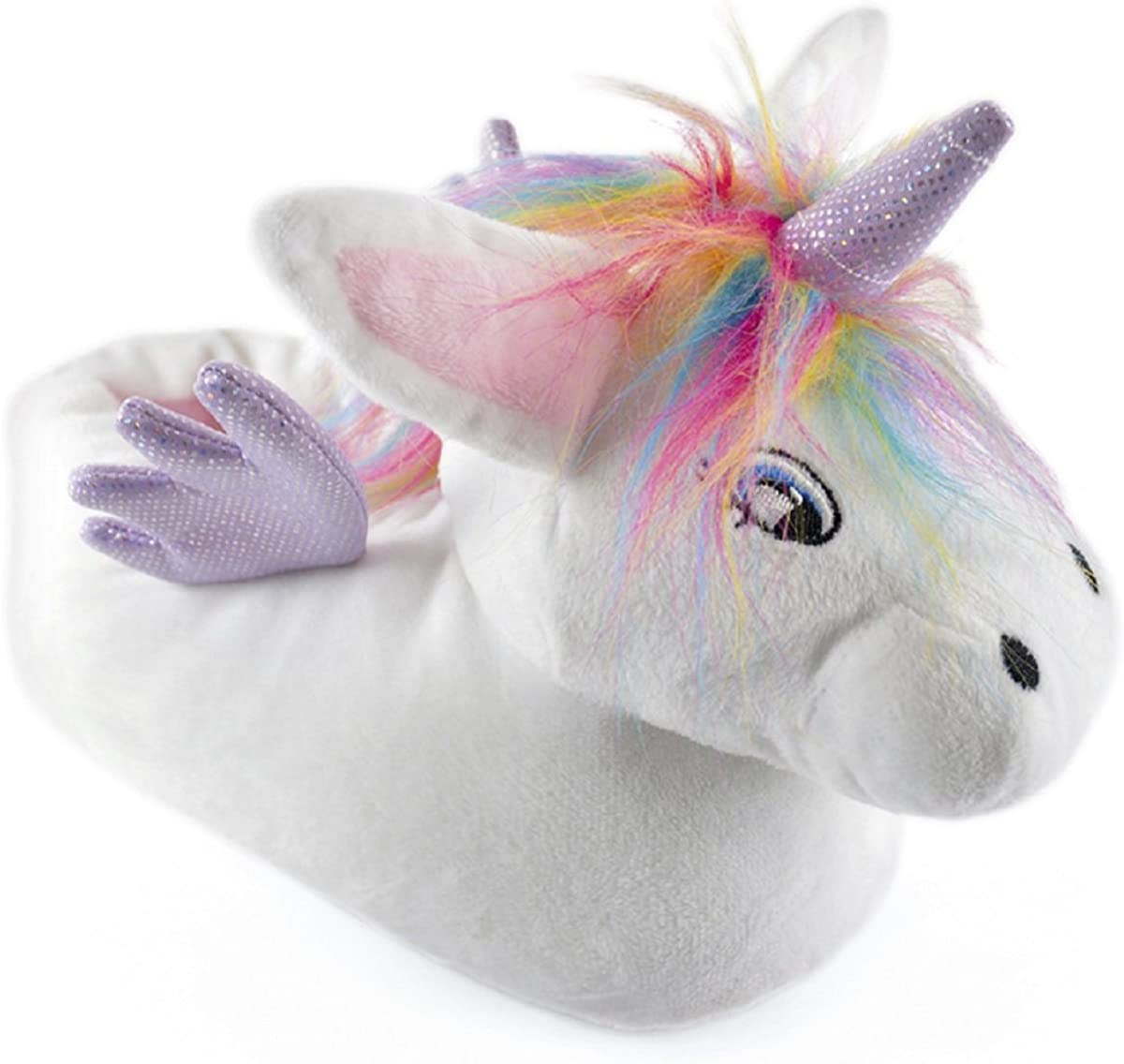 purple unicorn slippers