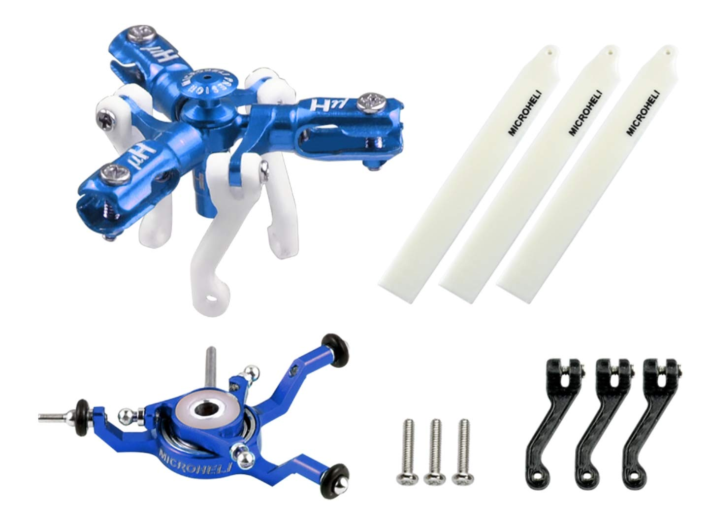 Microheli CNC Triple Blades Conversion Set (Blue) - Blade Nano CPX/S/S2
