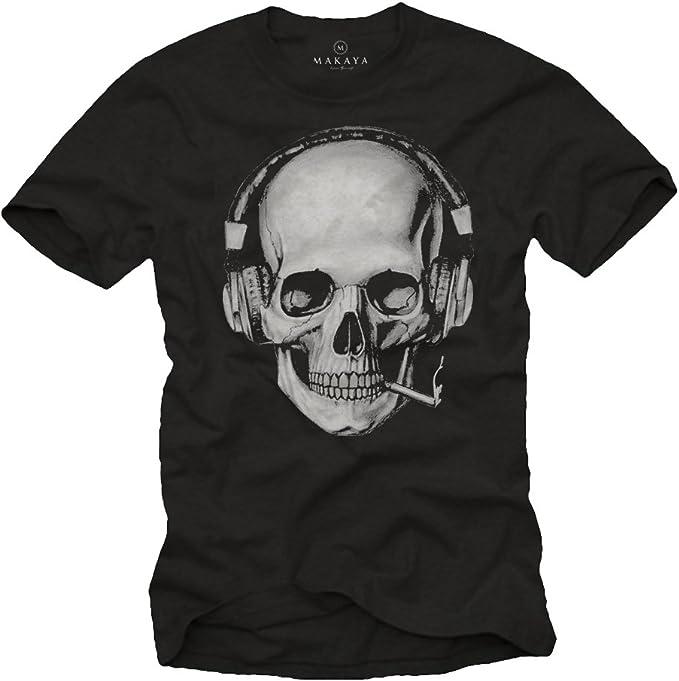 t shirt homme tete de mort