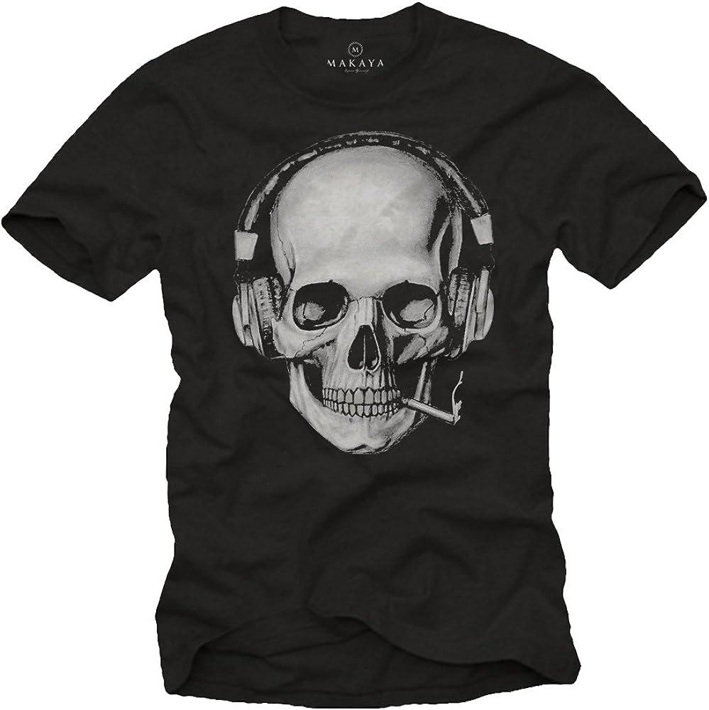 MAKAYA Camisetas Calaveras Hombre