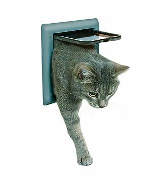 Puerta para gatos TRIXIE Gatera para puertas 2 posiciones: Amazon.es: Productos para mascotas