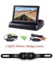podofo cámara de Copia de Seguridad inalámbrica con Monitor de visión Trasera