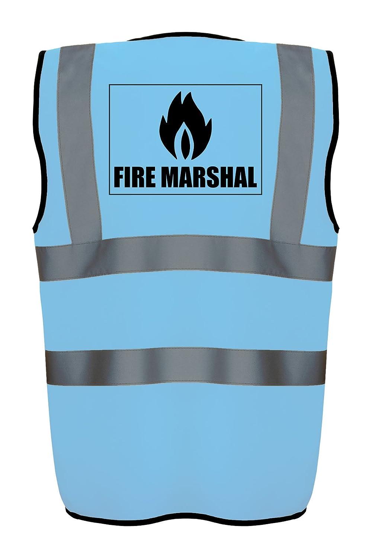 Hi Vis Hi Viz High Visibility Reflective Safety Vest//Waistcoat FIRE MARSHAL