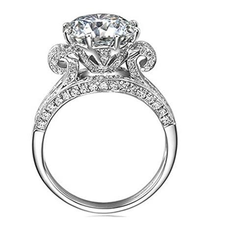 Amazoncom Luxury Vintage Style Jewelry Genuine 3 Carat Sona Lab