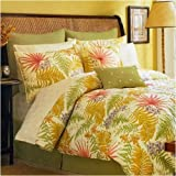 LIZ CLAIBORNE BON AIRE COVERLET TROPICAL , KING, YELLOW