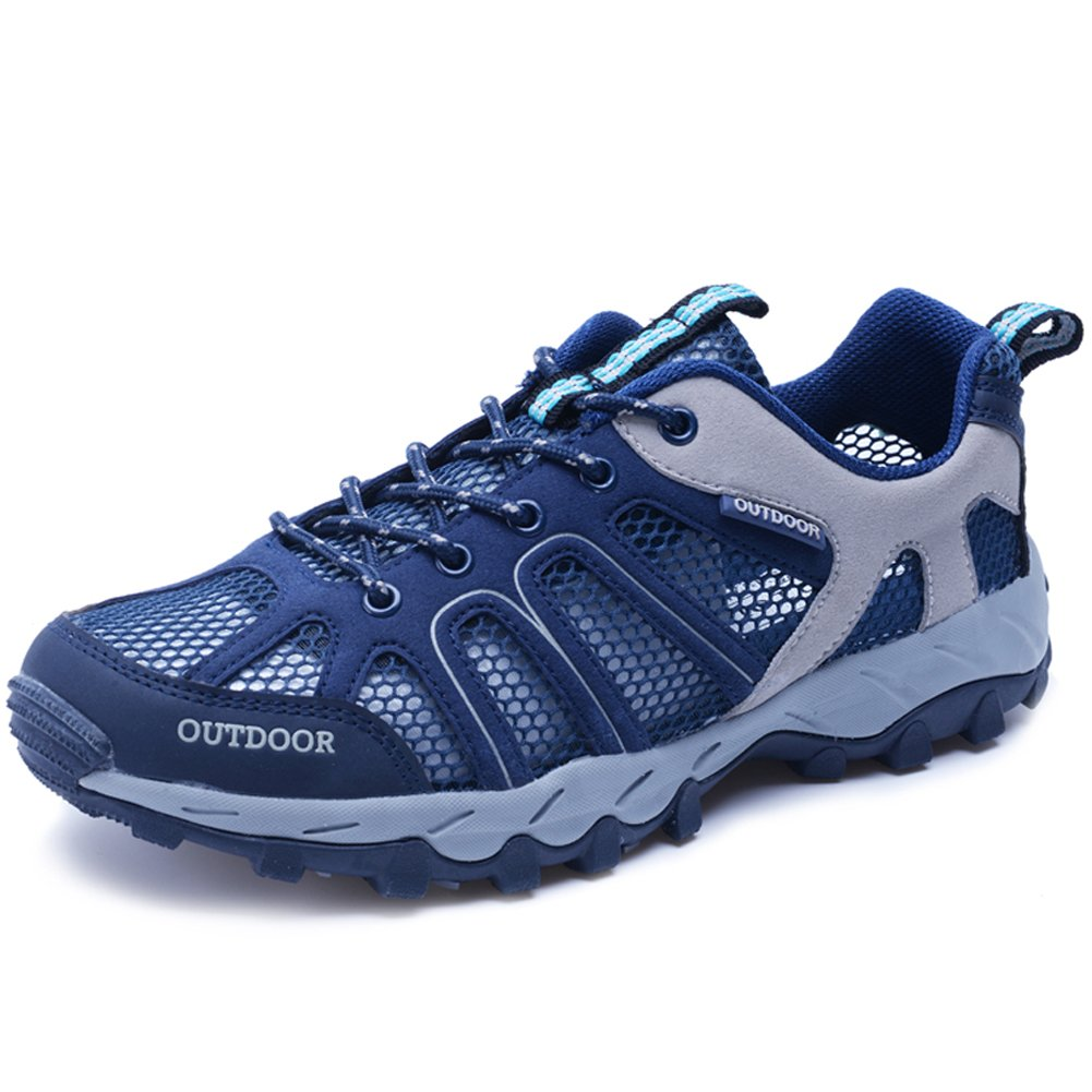 Jeater Women's/Men's Hiking Shoe Outdoor Breathable Mesh Water Shoes JT9033-Blue-40