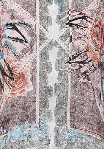 Langarmshirt mit Effekt-Garn und Print