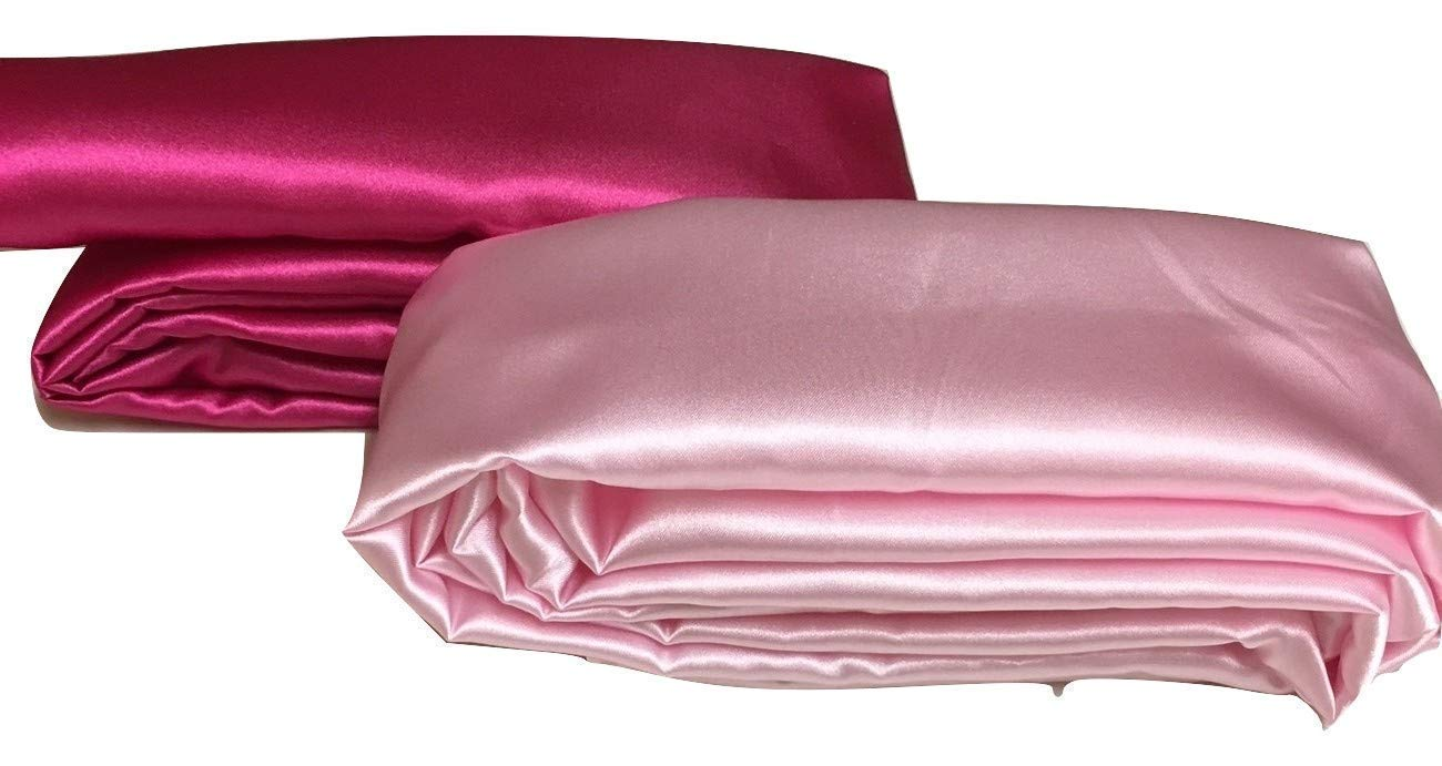 Light or Hot Pink Satin Fabric Cord Cover Handmade Variety of Sizes Up to 14 Feet