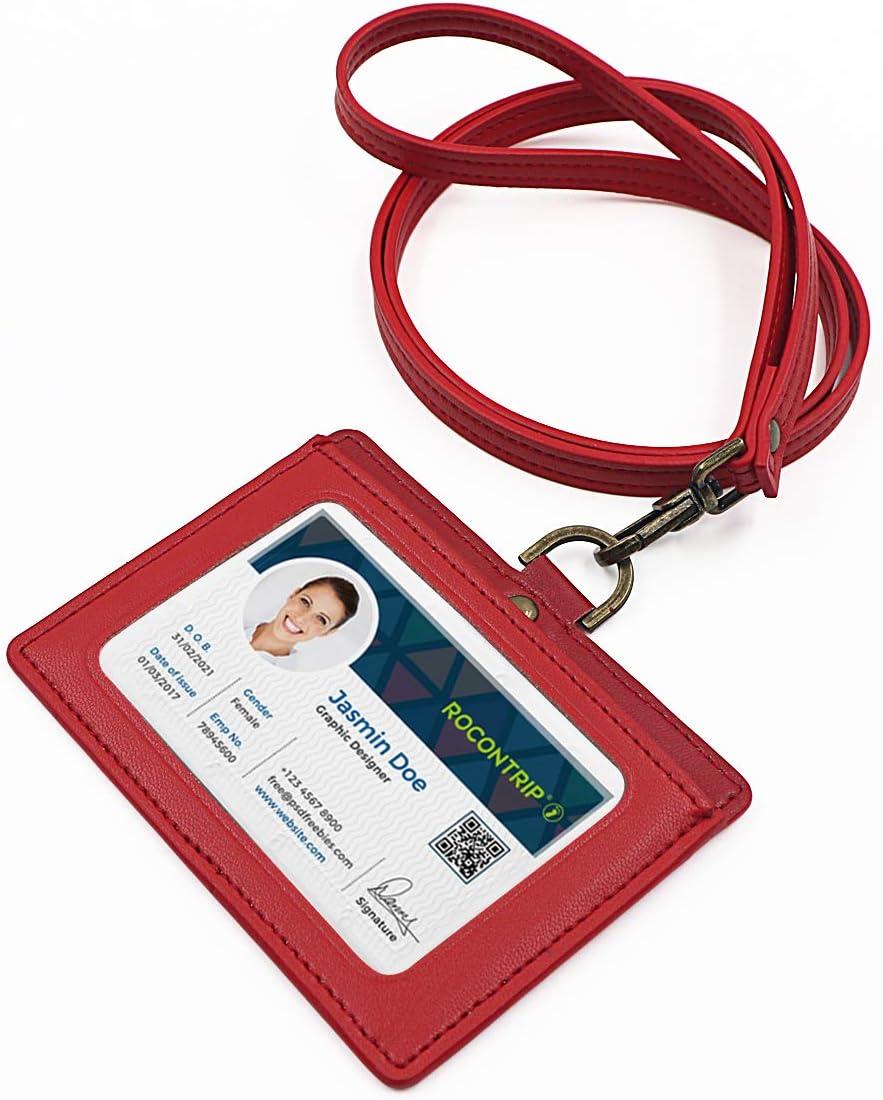 - 12 pezzi Soleebee 82cm Porta badge retrattile con Titolare della carta Orizzontale per Carte di identit/à Chiavi ecc USB Impiegati Carta dello studente