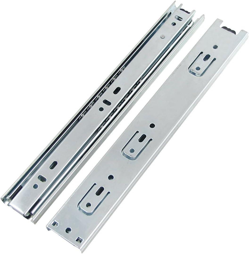 61/cm 600/mm ferm/é//–/1220/mm ouvert Double Enti/èrement extension /à roulement /à billes glissi/ères de tiroir Slide Heavy Duty 2 pairs