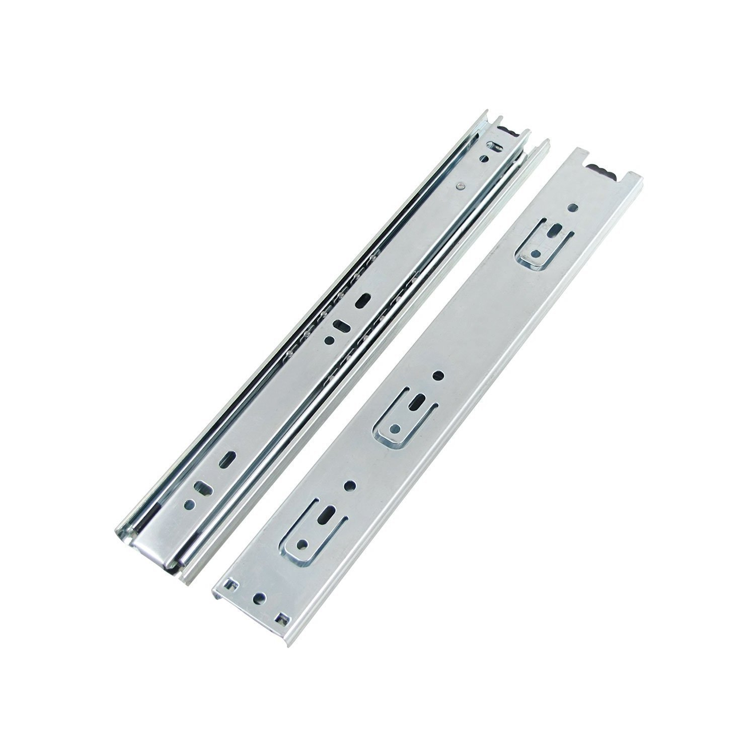DJM Direct 2pairs Double Fully Extension Ball Bearing Drawer Slide Runners Heavy Duty (24' 600mm Closed - 1220mm Open) (2 pairs)