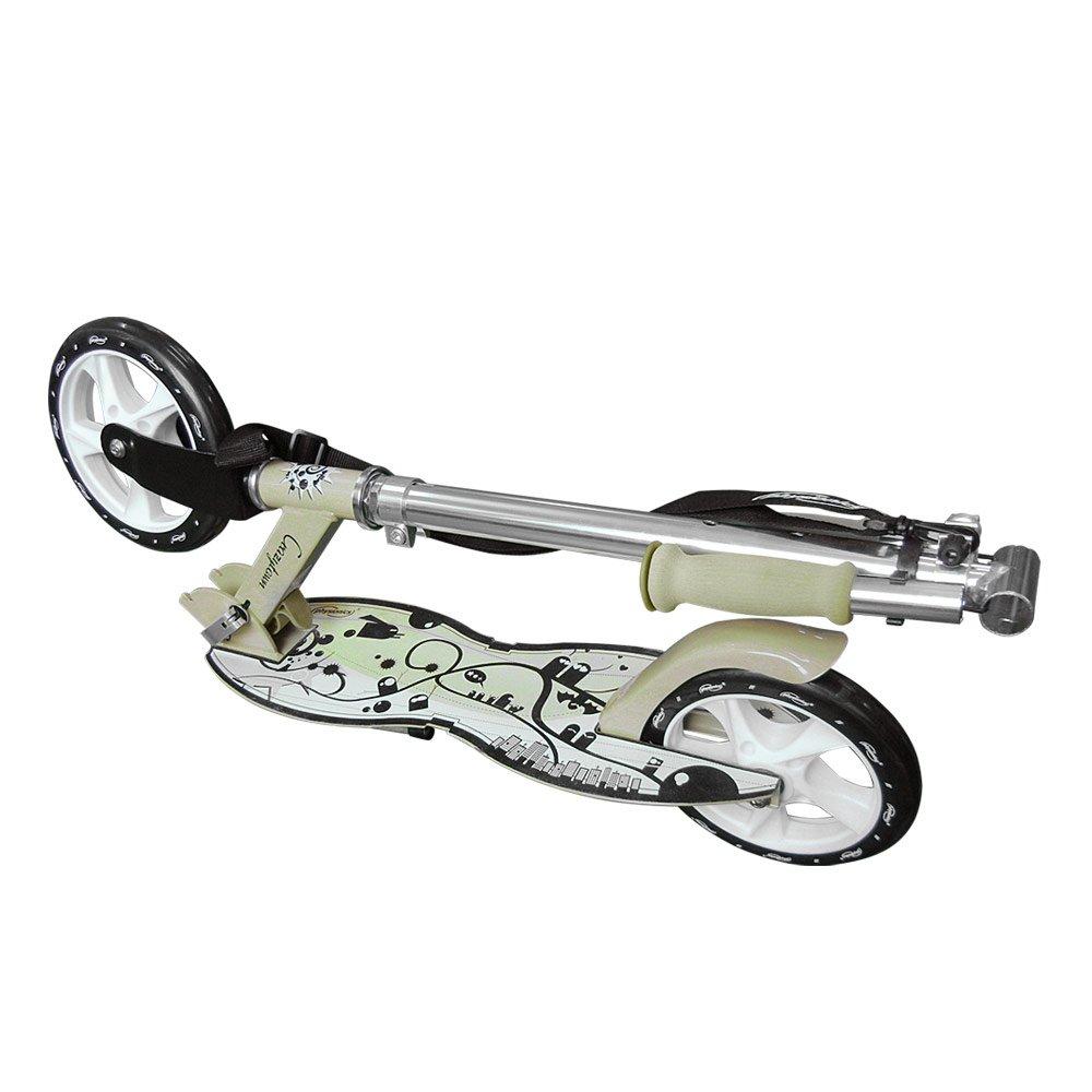 Physionics - Patinete plegable con dos ruedas y manillar - Crazytown: Amazon.es: Juguetes y juegos