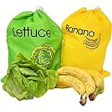 Banana Bag and Lettuce Bag Set | Produce Saver Bags - by Home-X