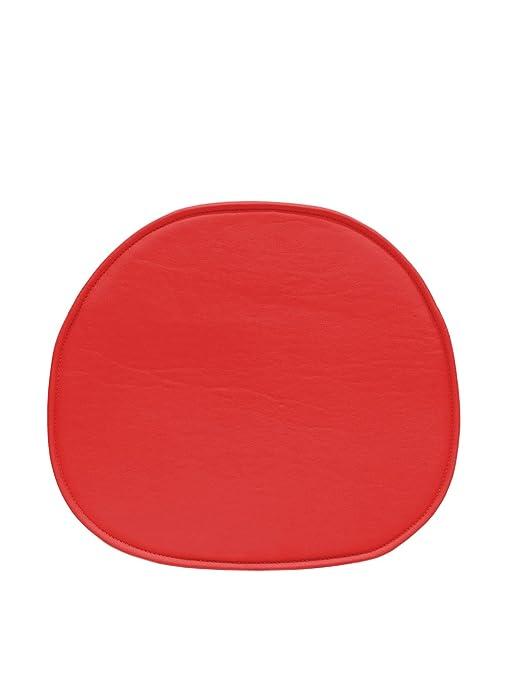 ARYANA HOME Cojín Silla Eames réplica, Piel sintética, Rojo, 40x36