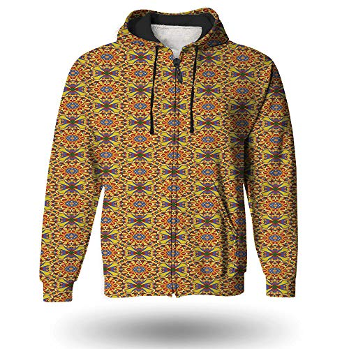 iPrint Men's Word Search Puzzle Zip Hoodie Sweatshirt