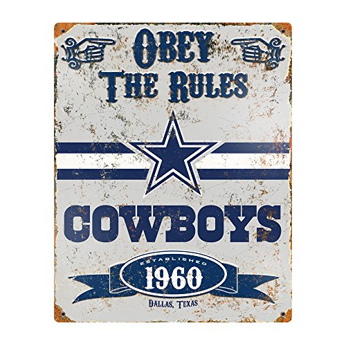 Party Animal NFL Embossed Metal Vintage Dallas Cowboys Sign