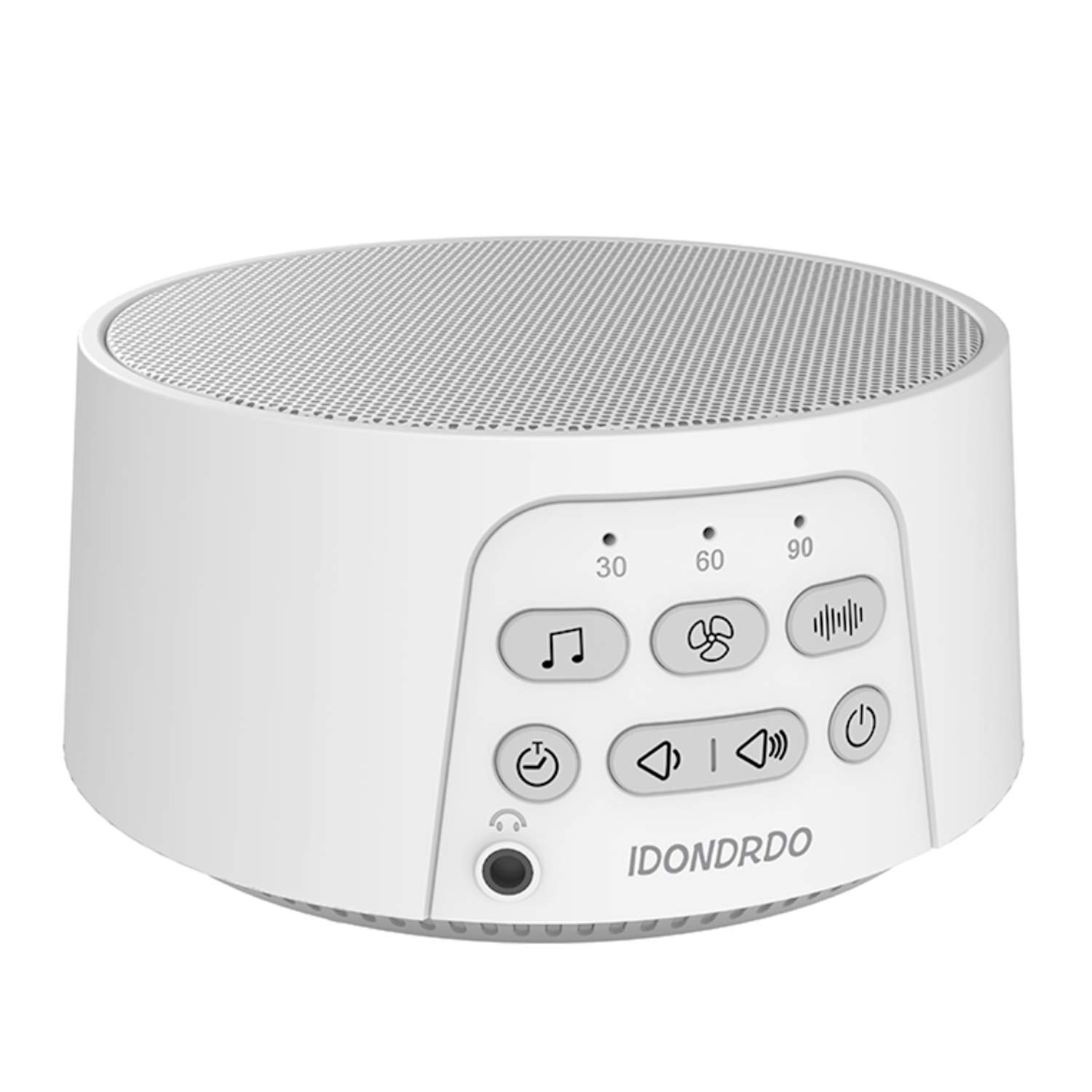 IDONDRDO White Noise Machine - Portable Sleep Therapy - 24 Soothing High Fidelity Non-Looping Nature, Ocean & Fan Sounds - Electronic Sleeping & Relaxation Aid - for Baby, Home, Office & Travel by IDONDRDO