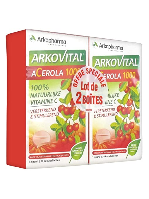 acerola 1000  Buy Arkopharma Arkovital Acerola 1000 2 x 30 Tablets Online at Low ...