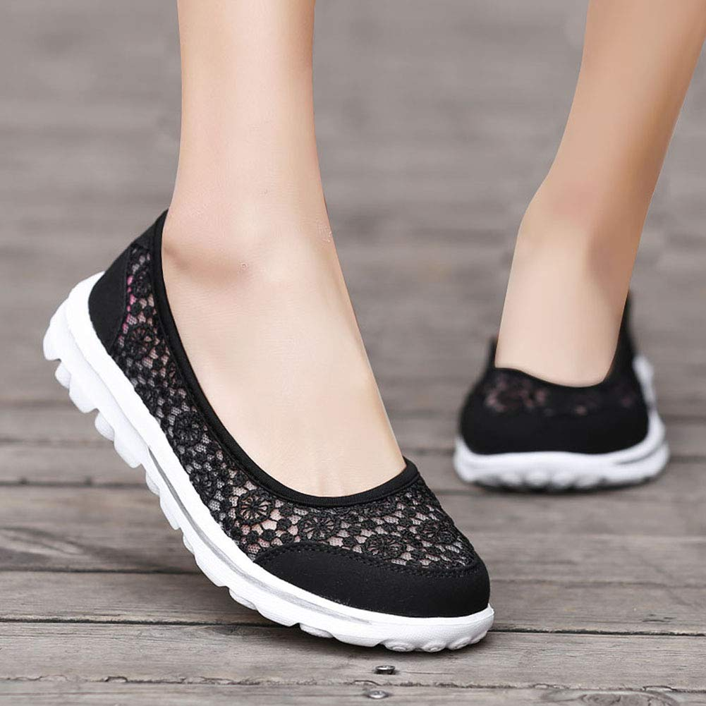 Women Flats Slip On Loafers Mesh Breath Running Sport Sneakers Ultralight Casual