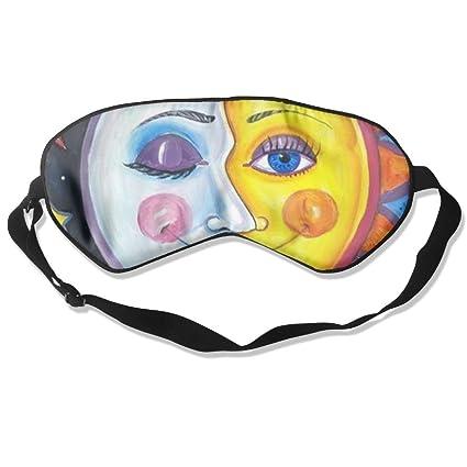 HOJIKD - Máscara de Dormir de Seda de Morera y máscara para Dormir con Correa Ajustable