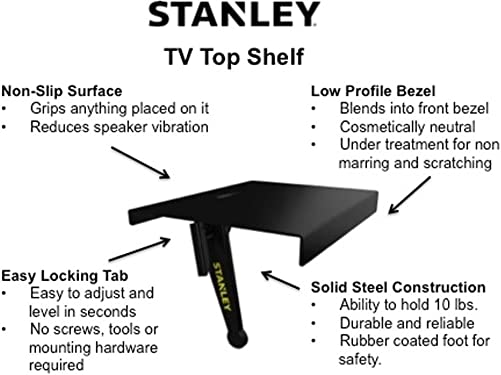 Stanley ATS-124 TV Top Shelf-Large Size, 24-Inch Width
