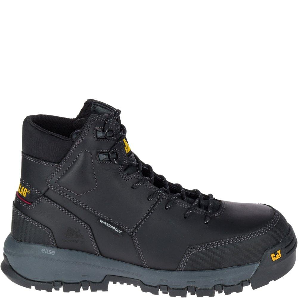 Caterpillar Men's Device Comp Toe Waterproof Work Boot, Black, 10.5 W US